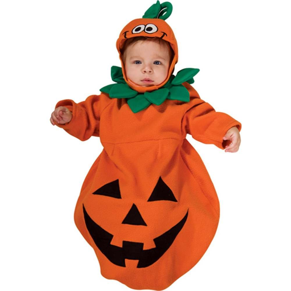 amazoncom rubies costume baby bunting pumpkin costume 1 to 9 months clothing