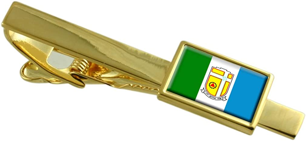 Select Gifts Betim City Minas Gerais State Flag Gold-Tone Tie Clip
