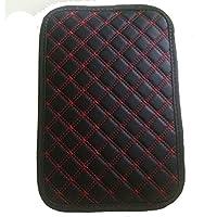 LKXHarleya Car Armrest Cushion Leather Car Armrest Pad Covers Auto Seat Armrests Box Pads Center Consoles Cushion