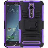 ZenFone 2 Case, ASUS ZenFone 2 Holster case, SGM (TM) Hybrid Dual Layer Armor Defender Case With Kickstand Belt...