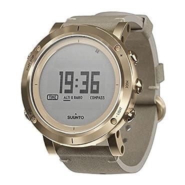 Suunto Essential Digital Dial Gold SS Leather Quartz Ladies Watch SS021214000
