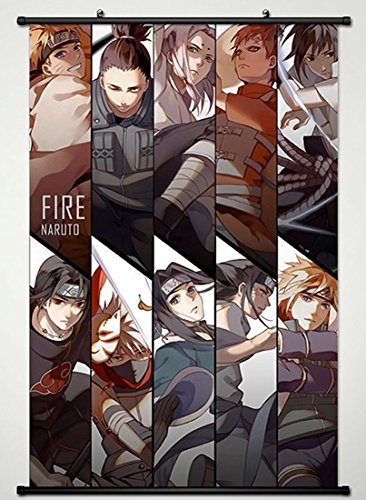 Wall Scroll Poster Fabric Painting For Anime Naruto Key Roles 658 L