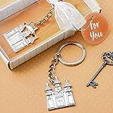Silver Castle Key Chain (125)