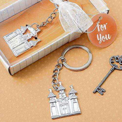 Silver Castle Keychain - 1