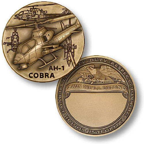 AH-1 Cobra Engravable Challenge Coin - Ah1 Helicopter Cobra