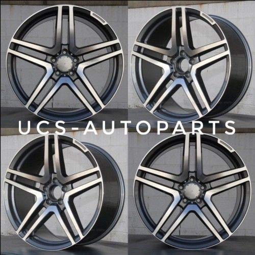 NEW 20 inch STAG S65 STYLE AMG GUNMETAL Rim Wheel compatible with Mercedes Benz CLS SET OF 4 (20 x 8.5/20 x 9.5-5x112-66.6) (Amg Rims 20)