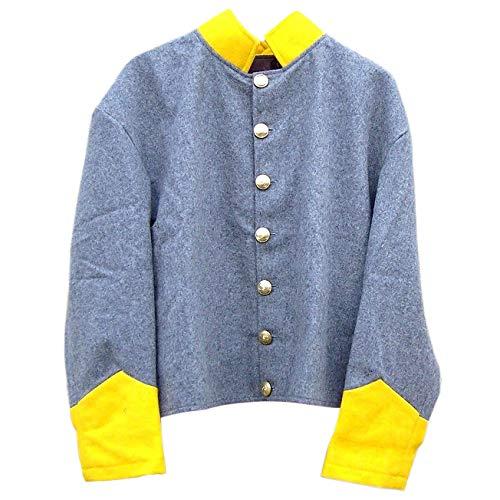 - Civil war Confederate re-Enactor Cavalry Shell Jacket (36) Grey