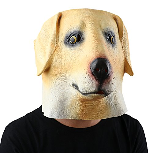 Halloween Dog Mask (Latex Animal Head Mask Halloween Party Costume Decorations - Dog Head Labrador)