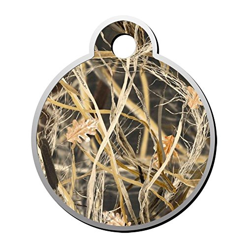 Sulily Tallgrass Camo Personalized Dog Tags & Cat Tags,Double Sided Round Pet ID Tag ()
