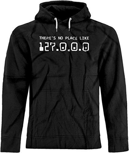BSW Unisex There's No Place Like 127.0.0.0 Wizard of OZ IP Hoodie XS Black ()