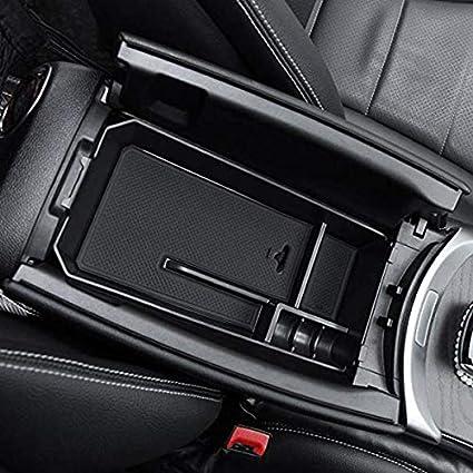 Toogoo Auto Mittel Konsole Armlehne Box Aufbewahrungs Box Container Tray Organizer Zubeh R Für Mercedes C Glc Klasse W205 2015 Auto