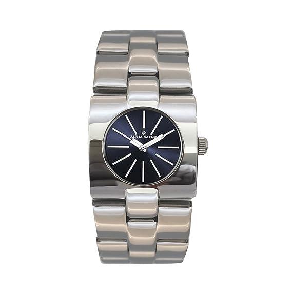 Alpha Saphir Reloj Analógico para Mujer de Cuarzo con Correa en Acero Inoxidable 1-1571I: Amazon.es: Relojes