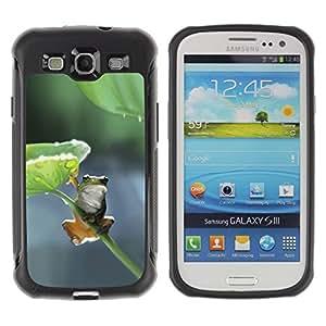 Pulsar iFace Series Tpu silicona Carcasa Funda Case para Samsung Galaxy S3 III I9300 , Feuille Nature Direction Vert Gris