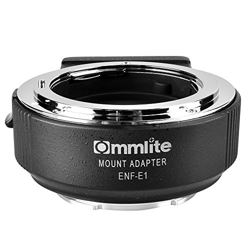 Commlite CM-ENF-E1 PRO Electronic Auto-Focus Lens Mount Adapter for Nikon Tamron Sigma F Mount Lens to Sony E Mount Camera, with Aperture Control, Built-in IS & VR EXIF Transmitting (V06 Version) by Commlite