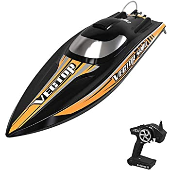 VOLANTEXRC Brushless Distant Management Boat VectorSR80 for Adults, 45mph Excessive-Velocity RC Boat with Self-Righting for Lake & River, ARTR Model NO Battery (798-4 ARTR)