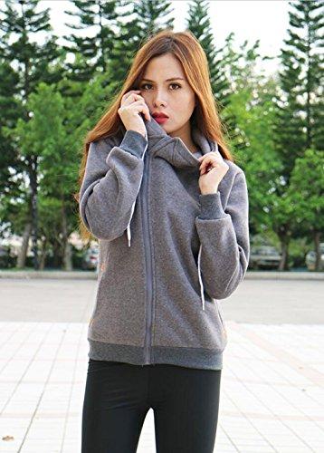 koobea - Sudadera con capucha - para mujer gris oscuro