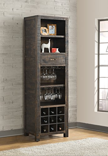 Center Pier Wine (Vilo Home VH1607 Glenwood Pines Wine Pier Cabinet, Traditional)
