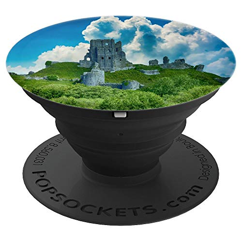 Castle Architecture Ruin Ancient History Background Art - PopSockets Grip and Stand for Phones and Tablets