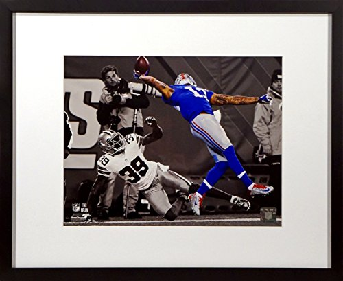 "NY Giants Odell Beckham Jr. ""The Catch"" Spotlight 11x14 Photograph (SGA Value Series) Framed"