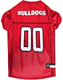 Pets First Collegiate Georgia Bulldogs Dog Mesh Jersey, X-Small