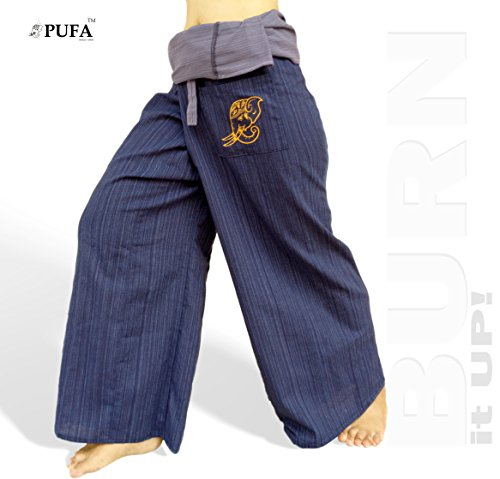 2 Tone Thai Fisherman Pants Yoga Trousers, a Waist up to 70