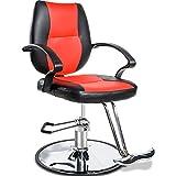 Merax Classic Hydraulic Barber Chair Styling Salon Beauty Shampoo Spa Equipment (Red)