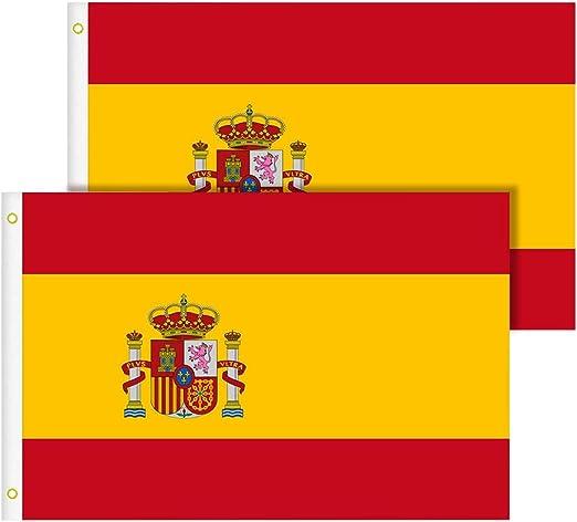 TIMESETL Bandera España Grande 2pcs Bandera de España, Resistente ...