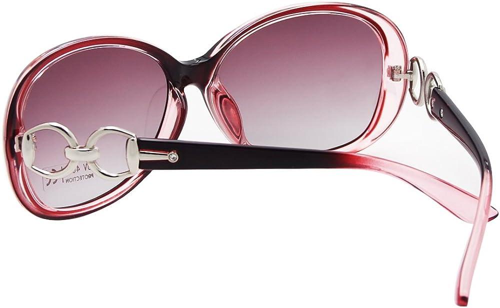 VeBrellen Lusso trasparente gli occhiali da sole polarizzati Retro Eyewear Piazza femminile Telaio Occhiali