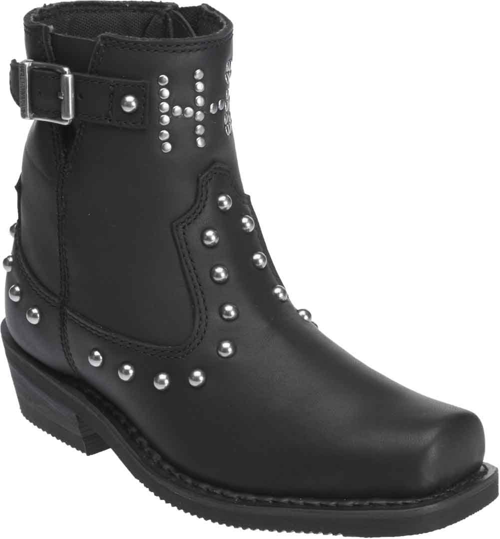 Harley-Davidson Women's Deanne Leather Motorcycle Boots. D87079 (Black 8.5)