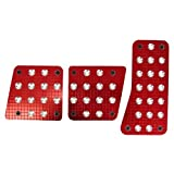 Custom Accessories 16005 Red Billet Manual Pedal Pad by Custom Accessories