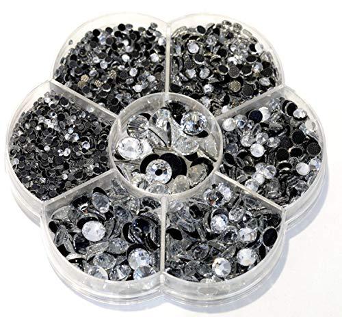 BLINGINBOX Hotfix Rhinestone 28 Colors to Choose 3000pcs Mixed Sizes(ss6-ss30) Crystal DMC Hot Fix Glass Rhinestone ()