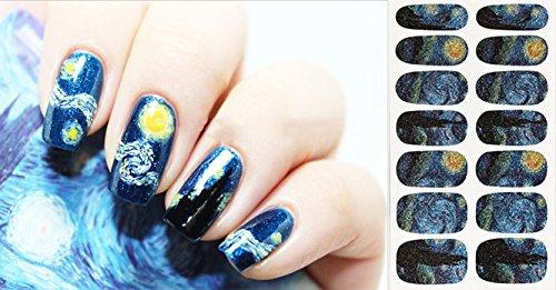 Nail Art Foils Patch Polish Stickers IN Van Gogh Starry Night Print - QJ0001 Nail Sticker Tattoo - FashionDancing