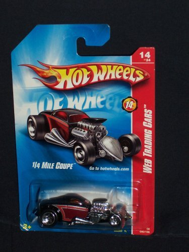 Hot Wheels 2008 090 Web Trading Cars # 14 of 24 14/24 1/4 Mile Coupe Burgundy and Black 2008 90 1:64 Scale by Hot Wheels
