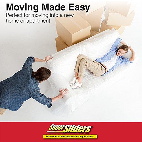 SuperSliders 4703295Z Multi-Surface 2-in-1 Reusable Furniture Carpet Sliders with Hardwood Socks- Protect & Slide on Any Surface 3-1/2'' &  5'' Value Set (8 Pack) by Super Sliders (Image #5)