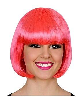 Bob peluca rosa neón