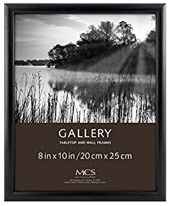 MCS INDUSTRIES 42307 8x10 FASHION BULLNOSE WOOD PICTURE FRAME - BLACK FINISH