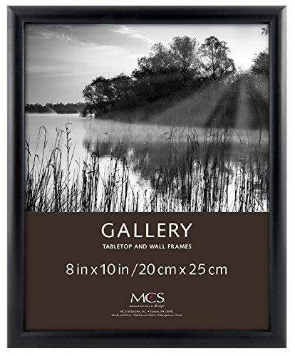 Bullnose Tabletop Picture Frame - MCS 8x10 Inch Bullnose Fashion Wood Picture Frame, Black(42307)