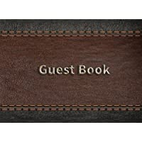 """Guest Book: For Memorial Service, Blank Lined Guest Book For Memorials & Funerals, (8.25"""" x 6"""" Paperback)"""