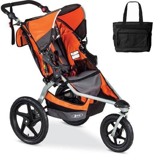 BOB - Revolution FLEX Stroller with Bag - Orange Silver