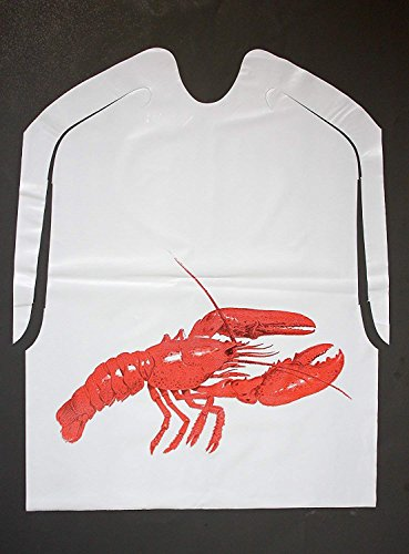 25 Pack Disposable Plastic Lobster Bibs ()