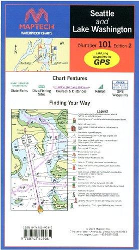 Lake Waterproof Chart - Maptech Waterproof Chart Seattle and Lake Washington, 2nd Edition. Model: WPC101