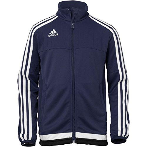 adidas Youth Soccer Tiro 15 Training Jacket, Black/White/Black, - Soccer Training Jackets