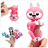 Interactive Baby Squirrel Electronic Toy for Children Finger Pet Toy Christmas Holiday gift (Pink)
