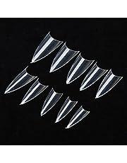 El arte transparente del clavo 500pcs inclina el color claro DIY El estilo francés del clavo artificial falso agudo que termina la decoración de acrílico del clavo del estilete