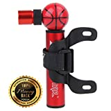 Mini Bike Pump by Pro Bike Tool - Fits Presta and Schrader - High Pressure PSI - Reliable, Compact & Light - Best Quality & Performance - Bicycle Tire Pump for Road, Mountain and BMX Bikes