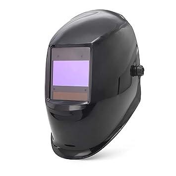 LAIABOR Casco De Soldadura Automático Oscurecimiento Máscara Solar Energía Máscara Fotosensible Máscara Soldador Ajustable,Black: Amazon.es: Deportes y aire ...