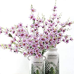 "Tutuziyyy Artificial Flowers 25.6"" 7 Branches Winter Jasmine Flower Bouquet for Wedding Party Home Décor 1"