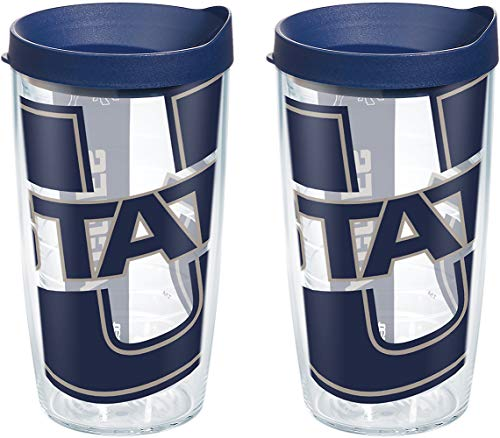 (Tervis 1126367 Utah State Aggies Tumbler with Wrap and Navy Lid 2 Pack 16oz, Clear)