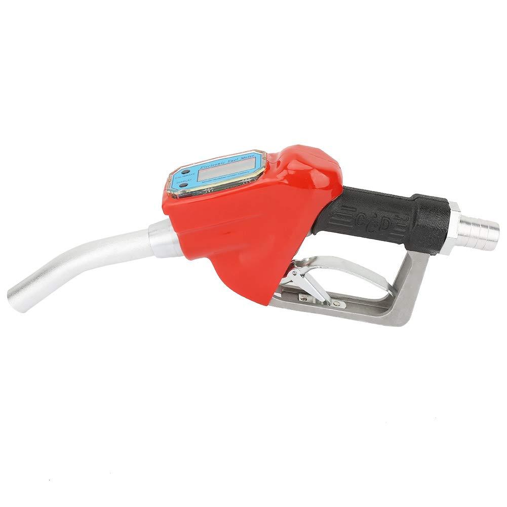 Pistola de combustible de aluminio de 25 mm para gasolina di/ésel con boquilla medidor de flujo boquilla de repuesto de aluminio di/ésel