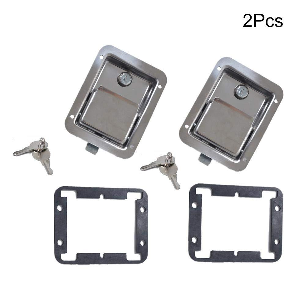 Chengstore Car Stainless Steel Trailer Toolbox Lock Door Lock in-Line Lock Tool Tear Drop Latch Stainless Steel Box Lock Stainless Steel Paddle Latch by Chengstore (Image #5)